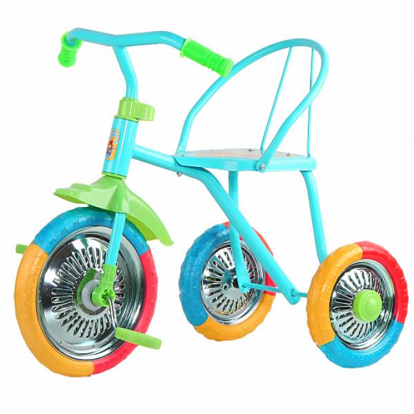 3х колесный велос. Озорной ветерок, колеса EVA 10/8,  сиденье  жестк.,  цвет  микс