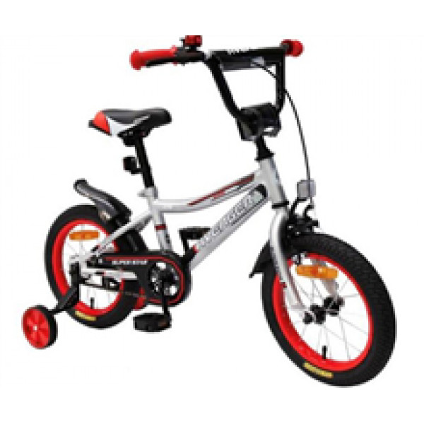 "Велосипед 16"" AVENGER SUPER STAR, серый/красный"
