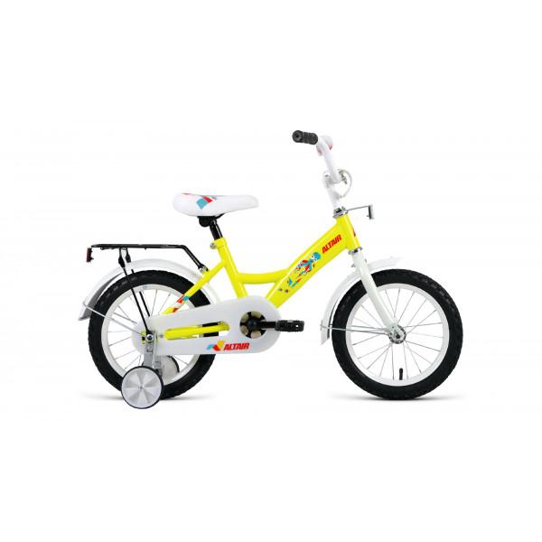 """Велосипед ALTAIR KIDS 14 (14"""" 1 ск.), желтый"""