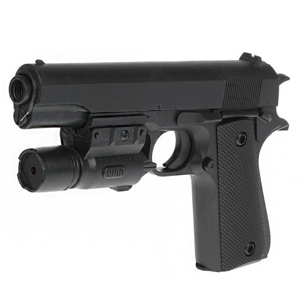 Пистолет (п) с лазер. прицелом, с пульками в пак.