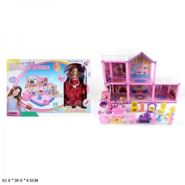 Дом для кукол, с фигурками и аксесс.
