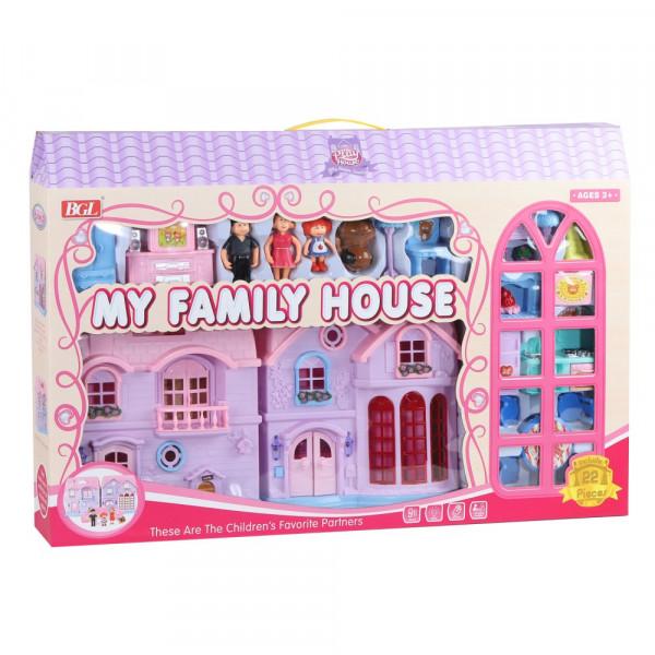 Кукольный дом, свет, звук. эффект, в комплекте куклы, мебель