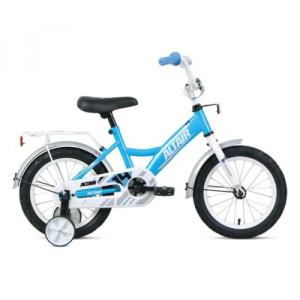 """Велосипед ALTAIR KIDS 14 (14"""" 1 ск.), бирюзовый/белый"""