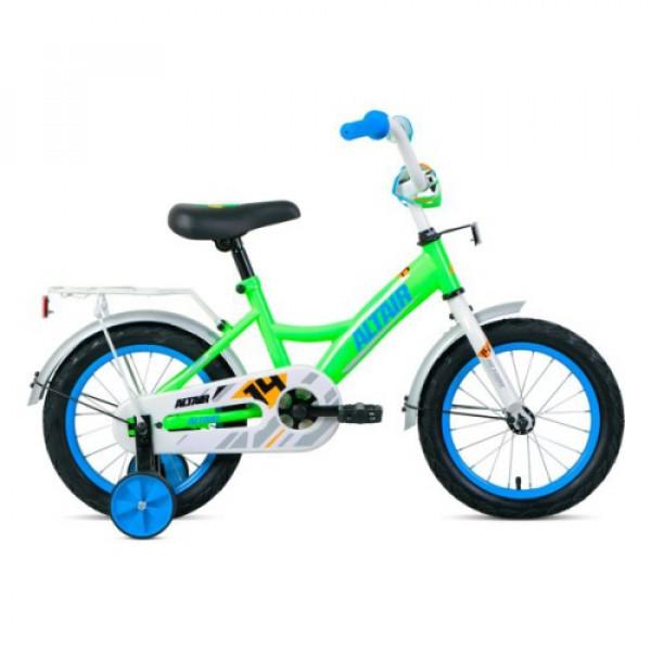 """Велосипед ALTAIR KIDS 14 (14"""" 1 ск.), ярко-зеленый/синий"""