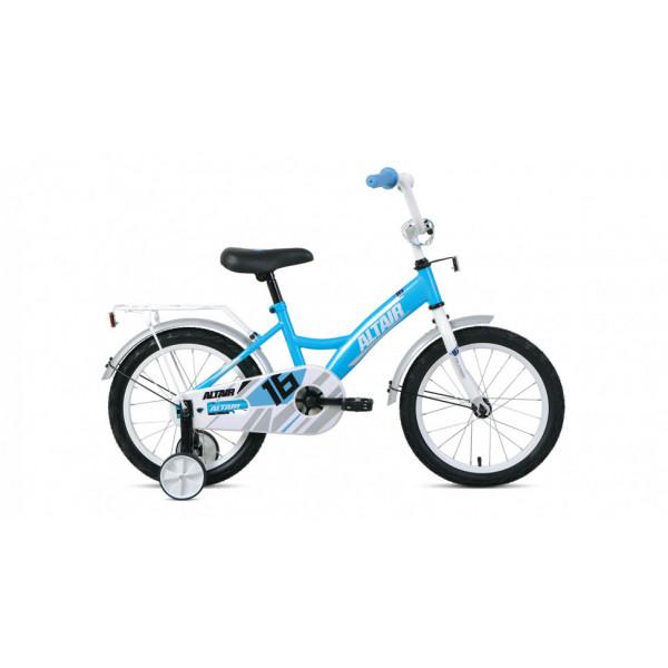 """Велосипед ALTAIR KIDS 16 (16"""" 1 ск.), бирюзовый/белый"""