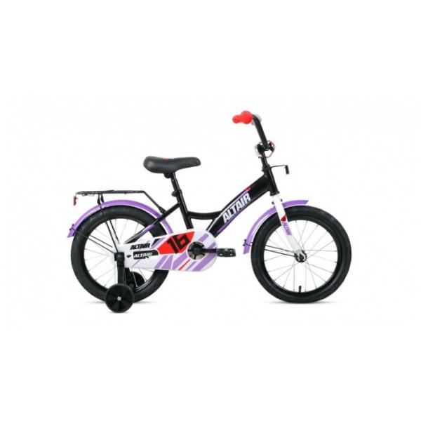 """Велосипед ALTAIR KIDS 16 (16"""" 1 ск.), черный/белый"""