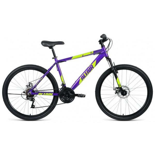 """Велосипед AL 26 D (26"""" 21 ск. рост 17""""), фиолетовый/зеленый"""