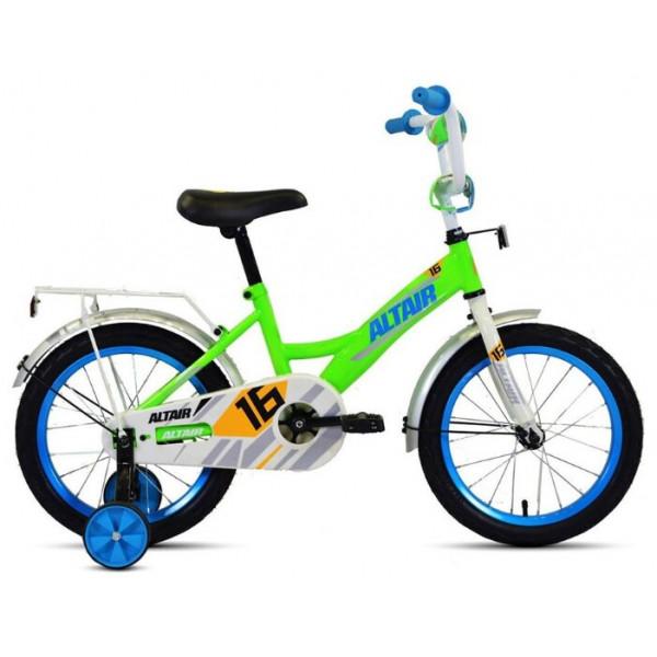"""Велосипед ALTAIR KIDS 16 (16"""" 1 ск.), ярко-зеленый/синий"""