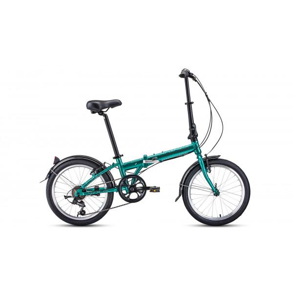 """Велосипед FORWARD ENIGMA 20 2.0 (20"""" 7 ск. рост 11"""" скл.), зеленый/коричневый"""