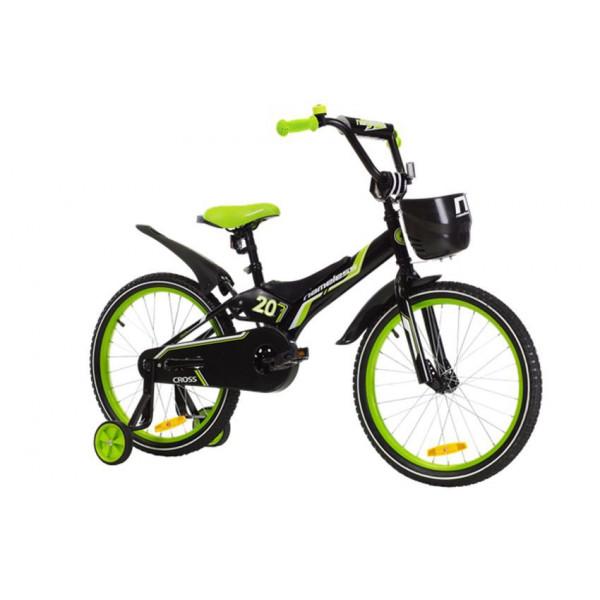 """Велосипед 16"""" Nameless CROSS, черный/зеленый"""