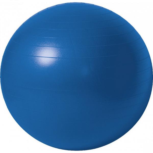 Мяч гимнастический, синий, 75 см, антивзрыв+насос
