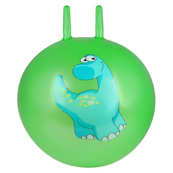 Мяч-попрыгунчик, 45CM с рожками,   Зеленый. Дино