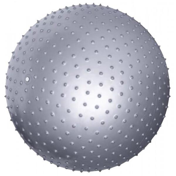 Мяч гимнастический массажный, серебристый, 65 см